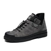 馬丁靴男2020新款潮中幫百搭短靴春季高幫工裝鞋百搭夏季靴子男靴   圖拉斯3C百貨