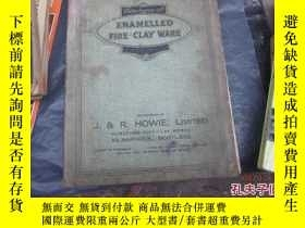 二手書博民逛書店外文書罕見enamelled fire clay ware (精