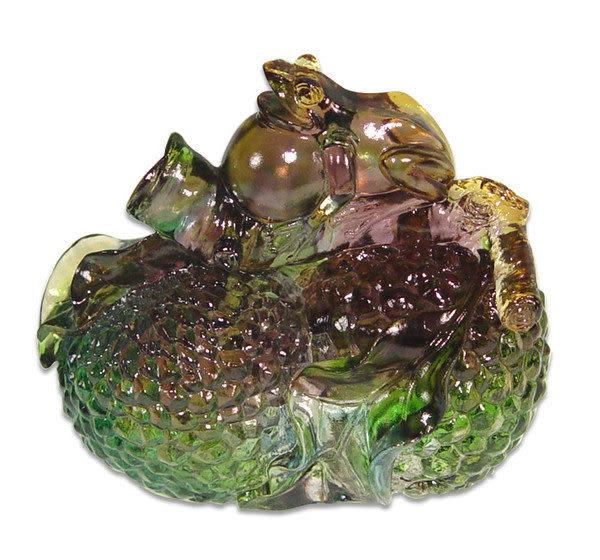 鹿港窯~水晶琉璃【名利雙收】可當文鎮&擺飾~可加購水晶座◆附精美包裝