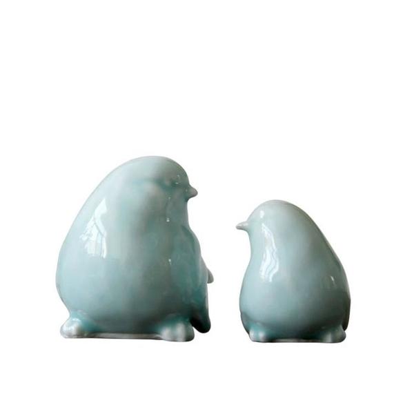雨彤家居 陶瓷創意現代裝飾品家裝軟裝家具青釉小鳥