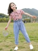 女童夏套裝 網紅中大童女裝夏裝2020新款洋氣兒童夏季套裝女童時髦兩件套12歲【快速出貨】