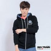 BIG TRAIN 男版連帽外套-男-黑色