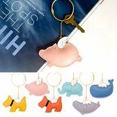 【熊貓】PU鑰匙扣韓國卡通可愛汽車鑰匙圈鍊