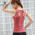 運動上衣新款夏季瑜伽服背心帶胸墊女健身跑步吸汗緊身運動衣速乾性感吊帶 快速出貨