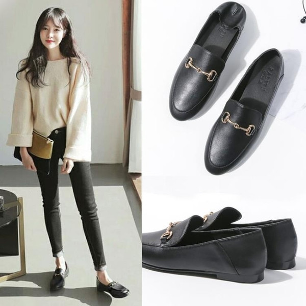 豆豆鞋季新款網紅單鞋女平底英倫韓版小皮鞋女鞋