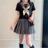 jk制服裙正版 夏季學院風短袖百褶裙套裝一套日系正統學生校服