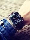 方形手錶男士石英大學生多功能防水運動機械特種兵黑科技酒桶腕表 三角衣櫃