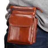 頭層牛皮手機掛腰包男真皮套穿皮帶休閒斜跨單肩小包5.5寸6寸新款