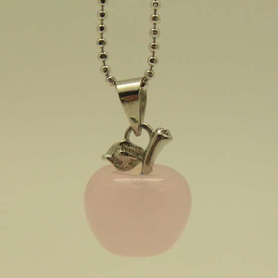 粉晶蘋果項鍊