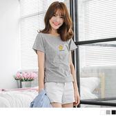 OrangeBear《AA9718》趣味水果燙印百搭棉感T恤.3色--適 XL~5L