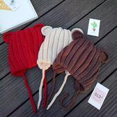 (交換禮物)秋冬寶寶帽子毛線帽立體耳朵帽子手工編織毛線嬰兒帽子兒童保暖帽 雙12鉅惠