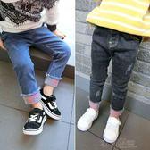童裝春款寶寶牛仔褲男童女童1-3-5歲兒童小腳褲長褲彈力褲子 沸點奇跡