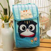Kiro貓‧摺耳貓 翻蓋 魔鬼氈 衛生棉收納袋/掛式置物袋【230673】