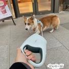狗狗發光自動伸縮牽引繩中大型小型犬狗鏈子遛狗繩子牽引繩柯基