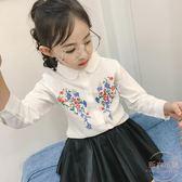 女童碎花襯衫長袖韓版公主春夏裝新款小孩兒童中大童百搭 店家有好貨