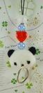 【震撼精品百貨】San-X動物家族_熊~手機吊飾-白熊-布材質