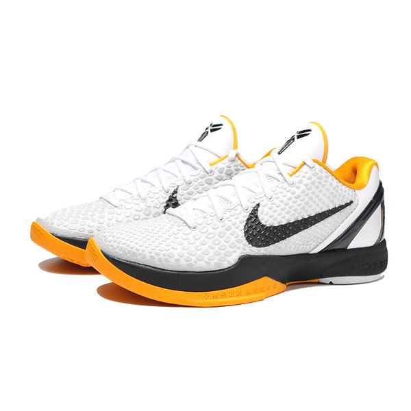 NIKE 籃球鞋 KOBE 6 PROTRO WHITE DELSOL 季後賽 白黑黃 男 (布魯克林) CW2190-100