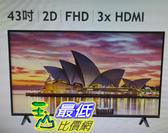 TCL 43 FHD 液晶顯示器 (不含視訊盒) 43S6500FS W124056 [COSCO代購]