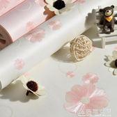 兒童房溫馨無紡布壁紙 田園粉色浪漫小花3D立體女孩公主臥室牆紙 NMS名購居家