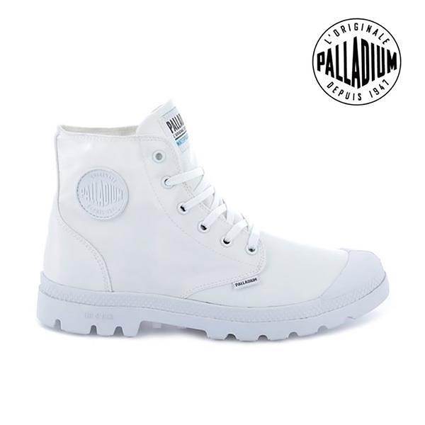【南紡購物中心】【PALLADIUM】PAMPA PUDDLE LITE+WP 輕量雨傘布防水靴 / 白 男女鞋
