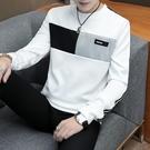 秋裝男士長袖t恤韓版青年春秋潮上衣打底衫外套新款連帽T恤男衛生衣服 依夏嚴選