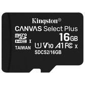 Kingston 金士頓 Canvas Select Plus microSDHC 16GB 記憶卡 (SDCS2/16GB)