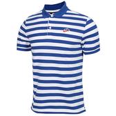 NIKE NSW HE PQ 男裝 短袖 POLO衫 休閒 純棉 透氣 條紋 藍 【運動世界】 BQ9075-438