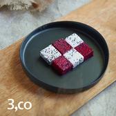 【3 co】水波系列圓形托盤- 黑(1號)