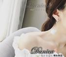耳環 現貨 韓國氣質甜美女神魅力風采 立體 冰淇淋 幾何 圓 雙色 長耳環 S91977 Danica 韓系飾品