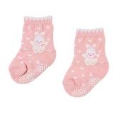 【愛的世界】愛心小兔止滑透氣毛巾底襪/7~17CM-台灣製- ★童鞋童襪