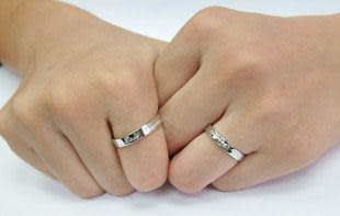 925純銀愛永恒 情侶戒指