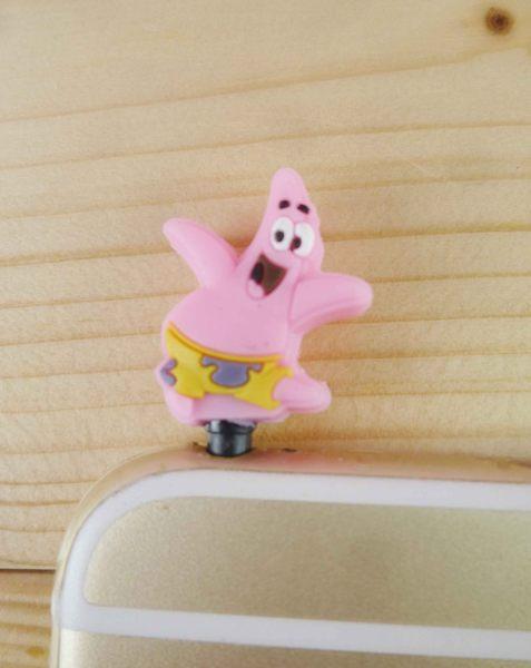 【震撼精品百貨】SpongeBob SquarePant海棉寶寶~耳機防塵塞-海綿寶寶及派大星