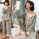 春秋季日式和服薄款女孕婦睡衣產後喂奶產婦純棉哺乳春夏月子套裝【小艾新品】