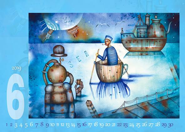 2019 三角檯曆 JL815 夢想異境 ~天堂鳥月曆