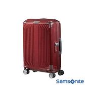 Samsonite新秀麗 20吋Lite-Box耐衝擊Curv垂直線條登機箱(深紅)
