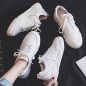 秋季新款秋鞋潮鞋小白鞋女韓版百搭學生帆布運動老爹白鞋板鞋