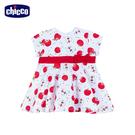 chicco-蘋果-滿版印花短袖洋裝