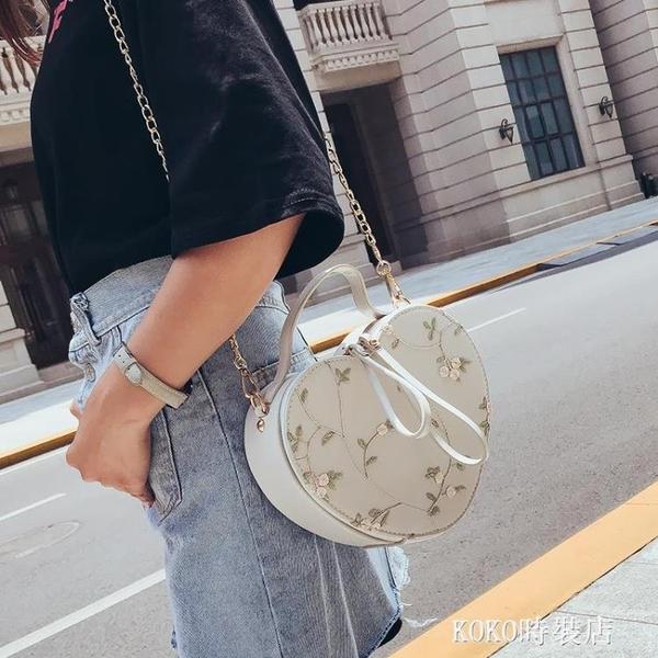 小包包女潮韓版百搭斜挎錬條蕾絲單肩手提少女小挎包 KOKO時裝店