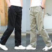 春季新款男士褲多口袋寬鬆工裝褲