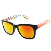 【福利品】水銀炫彩韓版潮流大框太陽眼鏡#5001(橘紅色框水銀黃橘鏡)