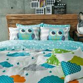 床包 / 單人【遇見朵朵藍】含一件枕套,100%精梳棉,奇妙童話時光,戀家小舖台灣製