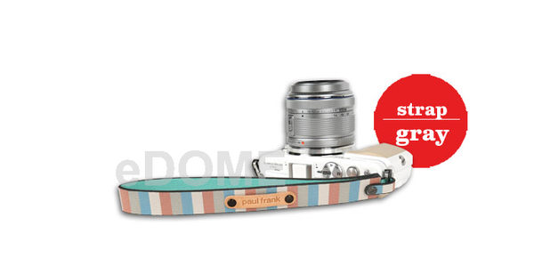PAUL FRANK 大嘴猴 SH08 薄荷藍條紋 寬版手腕帶 (免運 湧蓮公司貨) 微單/小DC相機用 13PF-SH08