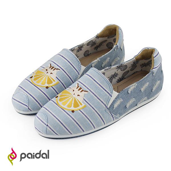 Paidal單寧刷破香吉士松鼠休閒樂福鞋