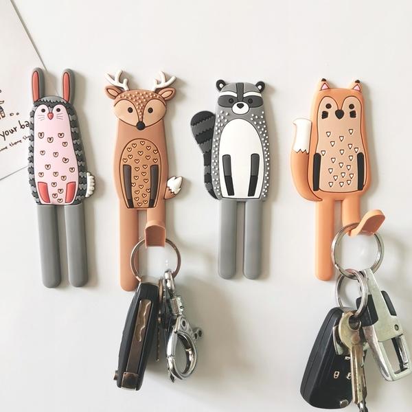 北歐風動物造型磁鐵掛勾 掛勾 冰箱貼 鑰匙掛勾 冰箱掛勾 磁鐵掛勾 可彎曲掛鈎【RS1205】