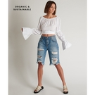 ONETEASPOON 牛仔短褲 TRUCKERS - 藍