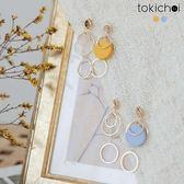 東京著衣-馬卡龍多圓圈耳針式耳環(181567)