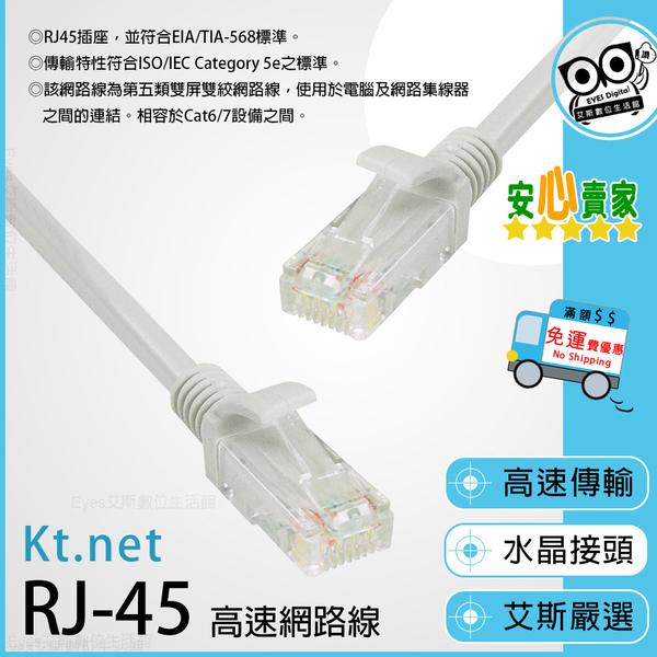 1米/100公分長【RJ45 C5E】Cat.5 貝吉白 電腦 網路線 無屏雙絞 ABS塑膠 相容於Cate6/7設備