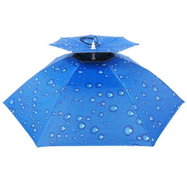 傘帽 雨傘帽 防曬傘帽 雙層傘帽 頭戴式 抗UV 漁夫帽 遮陽帽 防曬帽 登山帽 晴雨傘 陽傘 遮陽