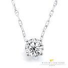 【11111專案】鑽石項鍊 30分 圓鑽 ESI2 9K金台+銀鍊 亞帝芬奇 精彩絕對