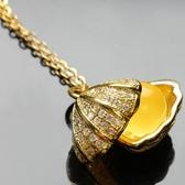 項鍊 925純銀 琥珀墜飾-獨特氣質生日情人節禮物女飾品73fz8[時尚巴黎]